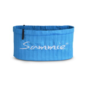 Vue de face de la ceinture de Running Sammie® V2 en bleu