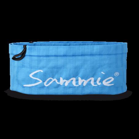 Vue de face, la ceinture de Running Sammie® Mini en  bleu