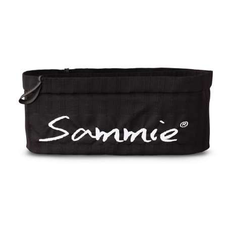 Vue de face, la ceinture de Running Sammie® Mini en noir