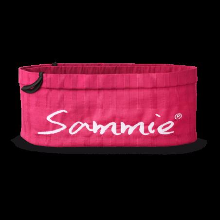 Vue de face, la ceinture de Running Sammie® Mini en  fuchsia