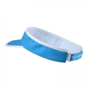 Visière bleue homme vue de dos, légère, protégeant des rayons du soleil