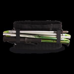 Vue de dos, ceinture de Running Sammie® Evo 2019 en noir avec bâtons pliables