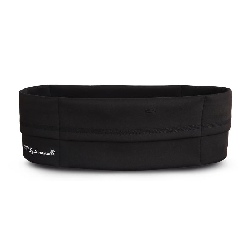 Vue de face, la ceinture de Running Sammie® City en noir