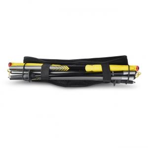 Vue de dos, la ceinture de Running Sammie® Ultra en noir avec les bâtons