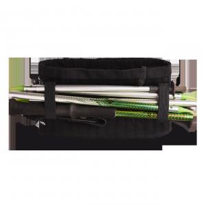 Vue de dos de la ceinture de Running Sammie® Trail en noir avec bâtons pliables