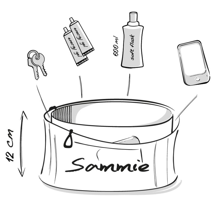 Dessin technique de la ceinture de Running Sammie® Mini