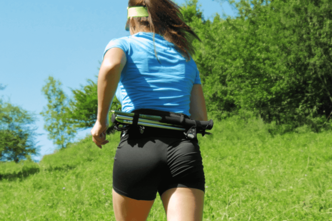 Ceinture de Running Sammie® Trail portée à l'occasion d'un trail par Anaïs Chevalier