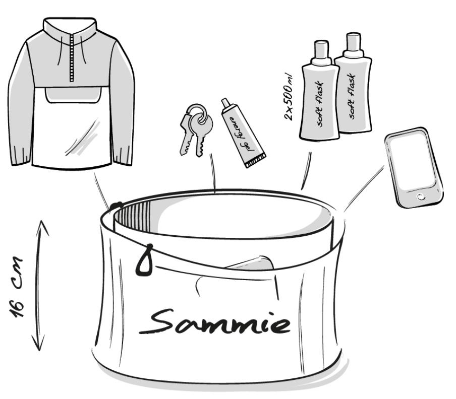 Dessin technique de la ceinture de running Sammie V2